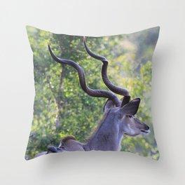 Hot Horns Throw Pillow