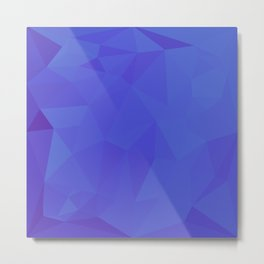 Bluebonnet Abstract Low Polygon Background	 Metal Print