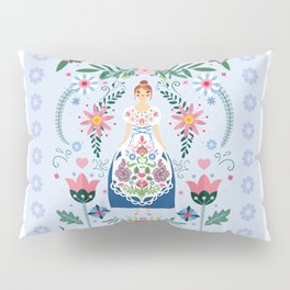 Fairy Tale Folk Art Garden Pillow Sham