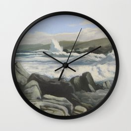 Tides at twilight Wall Clock