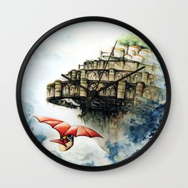 """""""The castle in the sky"""" Wall Clock"""