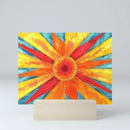 Summer Sunburst Mini Art Print