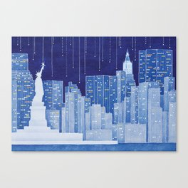 New York, Statue of Liberty Canvas Print