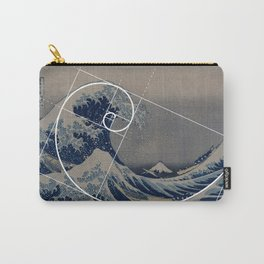 Hokusai Meets Fibonacci Carry-All Pouch