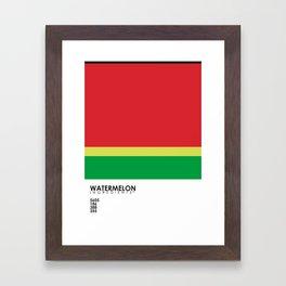 Pantone Fruit - Watermelon Framed Art Print
