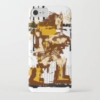 castlevania iPhone & iPod Cases featuring Simon De Belemonte' Splatter by alwasow