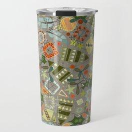 vintage christmas silver Travel Mug