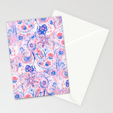 Paisley Watercolor Blue Stationery Cards