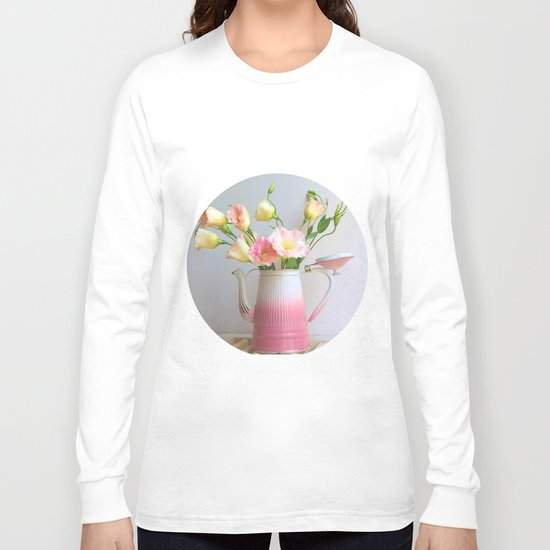 Coffee, Tea or Flowers Long Sleeve T-shirt