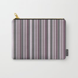 Parisienne Stripes in Plum Carry-All Pouch