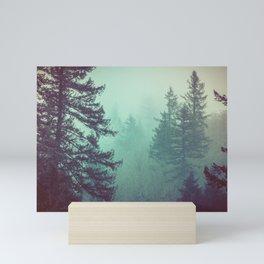 Forest Fog Fir Trees Mini Art Print