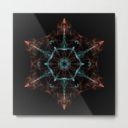 Merkabah Mandala Metal Print