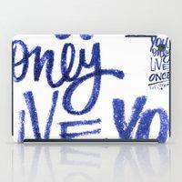 yolo iPad Cases featuring YOLO by lunol