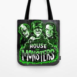 House of Monsters Phantom Frankenstein Dracula classic horror Tote Bag