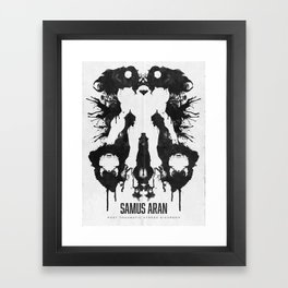 Samus Aran Metroid Geek Psychological Diagnosis Ink Blot  Framed Art Print