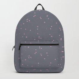 Gray Light Pink Shambolic Bubbles Backpack