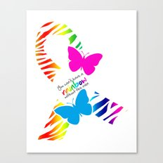 You can't have a Rainbow without the Rain - Awareness Ribbon - Commissioned Work Canvas Print