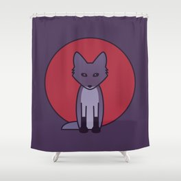 Purple Fox - Kitsune Visits Japan Shower Curtain
