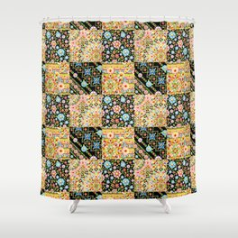 Crazy Crazy Printed Patchwork Shower Curtain