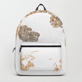 GOLD WORLD MAP Backpack