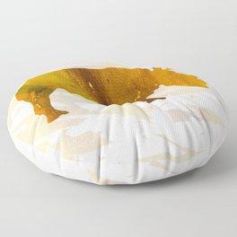 Colorful Art Rhino Abstract Yellow Floor Pillow