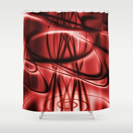 Delusional - RED Shower Curtain