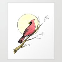 cardinal Art Prints featuring Cardinal by Eric Weiand