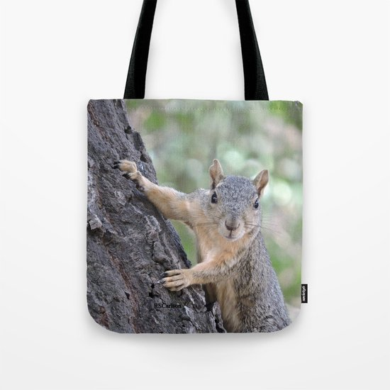The Who You Lookin At Squirrel Tote Bag