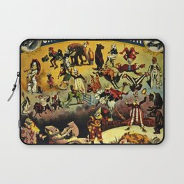 1890 Barnum and Bailey Greatest Show on Earth A Child's Dream Vintage Poster Laptop Sleeve