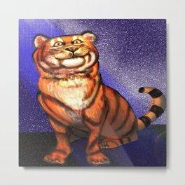 Tiger -A Circus Star Metal Print