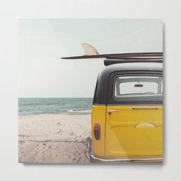 Summer surfing Metal Print
