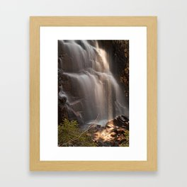 Hadlock Sunbeam Falls Framed Art Print