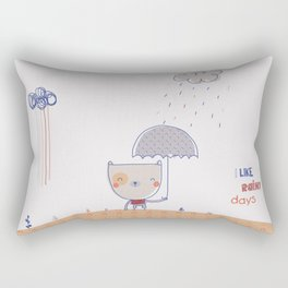 Rainy days Rectangular Pillow