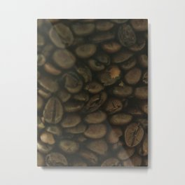 Coffee pattern, fine art photo, Coffeehouse, shops, bar & restaurants, still life, interior design Metal Print