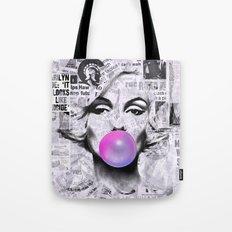 Marilyn Newspaper Headlines PopArt Tote Bag