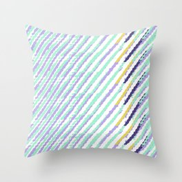 Green Drops of Time Throw Pillow