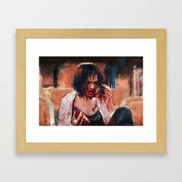 Adrenaline Shot - Mia Wallace - Pulp Fiction Framed Art Print
