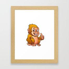 baby gorilla cartoon Framed Art Print