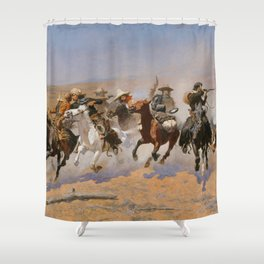 A Dash for the Timber - Frederic Remington Shower Curtain