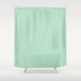 Summermint Pastel Green Mint Puffy Quilt Shower Curtain