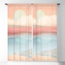 Mint Moon Beach Blackout Curtain