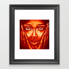 look at me /red/ Framed Art Print