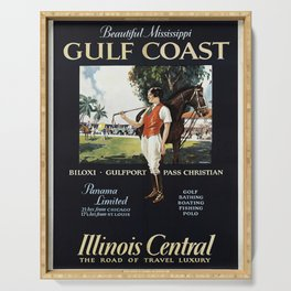 vintage placard Gulf Coast Serving Tray