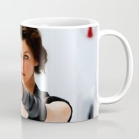 resident evil Mugs featuring Milla Jovovich @ Resident Evil by Gabriel T Toro
