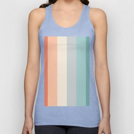 striped color pattern - red , orange, grey, green, Unisex Tank Top