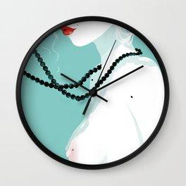 Black pearls Wall Clock