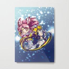 Super Sailor Moon & Chibi Moon (edit 1/A) Metal Print