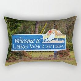 Welcome To Lake Waccamaw Rectangular Pillow