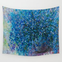 Bouquet Of Forget Me Nots by Lena Owens Wall Tapestry
