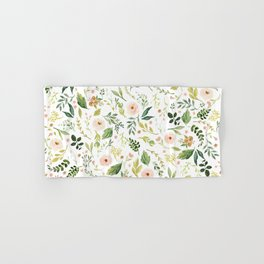 Botanical Spring Flowers Hand & Bath Towel